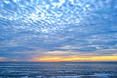 在大西洋的日出 库存图片