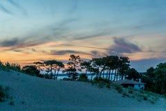 在大西洋的日落 库存照片