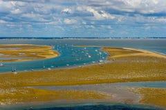 在大西洋的风景看法 免版税库存照片
