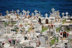 在大西洋的Cementary 库存图片