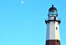 在大西洋的Montauk灯塔长岛, NY东部一角的  库存图片