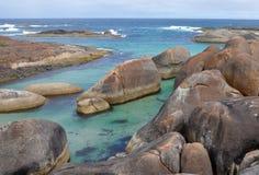 在大象小海湾的大象岩石 图库摄影