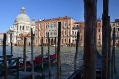 在大运河的松弛晚上在威尼斯 库存照片