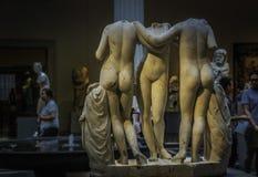 在大都会艺术博物馆的雕塑 库存照片
