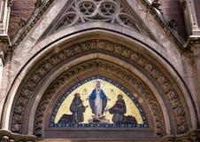 在大门上的马赛克,帕多瓦教会,伊斯坦布尔圣安东尼  免版税库存照片