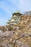在大阪城堡的春天 免版税库存图片