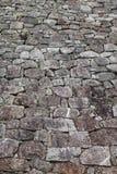 在大阪城堡,日本的石墙 免版税库存图片