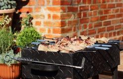 在大阳台的烤肉 免版税库存照片