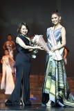 `在大阶段的Supranational泰国小姐2017年`最后的回合在泰国Niramit 库存图片