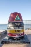 在大陆美国的最南端的点 库存图片