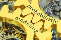 在大齿轮的机率塑造的概念, 3D翻译 库存例证