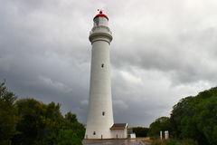 在大洋路的分裂点灯塔 免版税库存图片