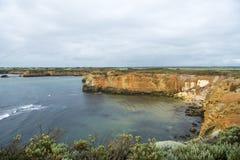 在大洋路,澳大利亚的海湾 免版税库存照片