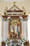 在天主教的一个法坛 免版税图库摄影