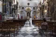 在天主教里面在杜布罗夫尼克,克罗地亚 图库摄影