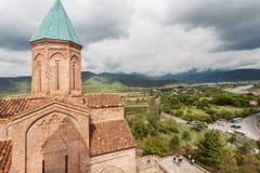 在天使的英王乔治一世至三世时期东正教的云彩 Gremi镇在乔治亚 免版税库存照片