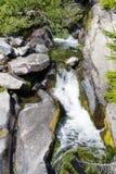 在天堂河的瀑布 库存照片