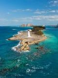 在天堂海岛的灯塔 图库摄影