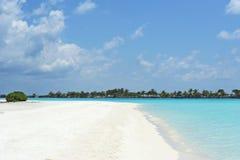 在天堂海岛,马尔代夫的美好的风景 2012年3月 免版税库存照片