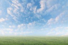 在天堂的云彩在地面上 免版税库存图片