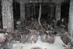 在天宁岛2的日本燃料地堡废墟 免版税库存图片