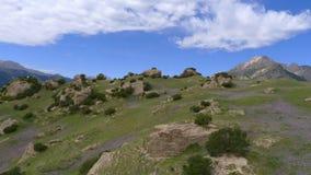 在天山山的风景 库存照片