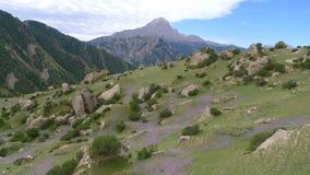 在天山山的风景 免版税库存图片