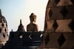 在天时间日惹Java印度尼西亚的婆罗浮屠寺庙 库存图片