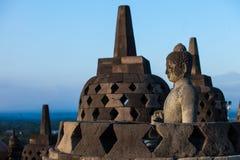 在天时间日惹Java印度尼西亚的婆罗浮屠寺庙 库存照片