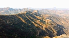 在天时间的山景 图库摄影