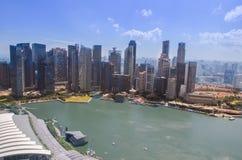 在天期间,新加坡地平线 库存照片