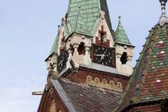 在天界的塔时钟 免版税图库摄影
