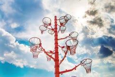在天空下的梦想篮子 免版税图库摄影