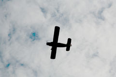 在天空俄国苏联军用飞机战斗机,第二次世界大战的攻击机 免版税库存图片