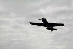 在天空俄国苏联军用飞机战斗机,第二次世界大战的攻击机 免版税图库摄影