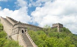 在天空墙壁附近的北京蓝色瓷极大的mu 免版税库存照片