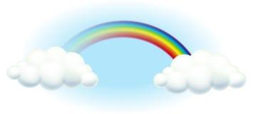在天空的一条彩虹 免版税库存图片