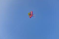 在天空的一次风筝飞行 免版税库存照片
