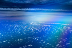 在天空的不可思议的路 免版税库存图片
