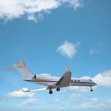 在天空的专用喷气机 库存照片