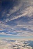 在天空的云彩 免版税库存照片