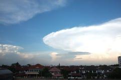 在天空的云彩 库存照片