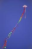 在天空的五颜六色的风筝 图库摄影