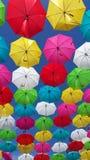 在天空的伞 免版税图库摄影