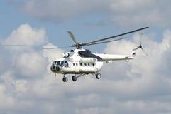 在天空的俄国直升机 库存图片