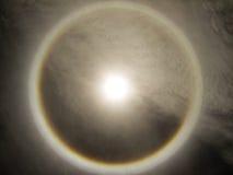 在天空的光环。 免版税库存图片