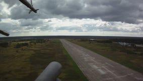在天空的军用直升机 股票录像