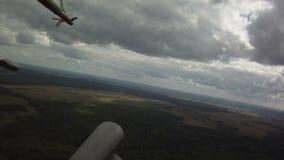 在天空的军用直升机 影视素材