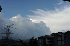 在天空的剧烈的云彩 库存图片