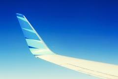 在天空的印度尼西亚鹰航空公司 库存照片